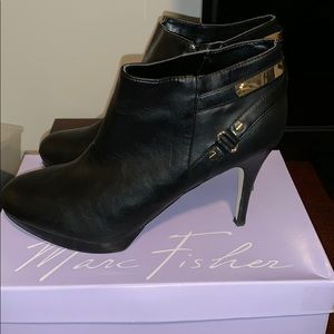 6e47bb4934b Marc Fisher Black Leather Booties